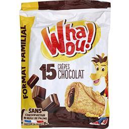 Whaou! Whaou! Crêpes chocolat les 15 crêpes de 32 g