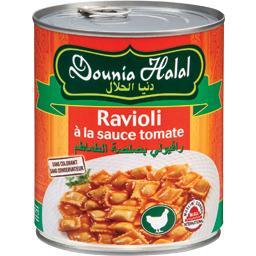 Ravioli à la sauce tomate halal
