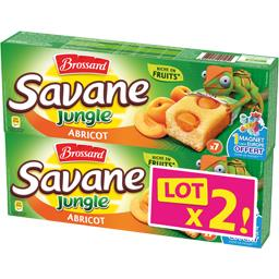 Brossard Savane - Gâteaux Jungle abricot le lot de 2 boites de 175 g