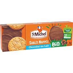 St Michel St Michel Sablés Nappés chocolat au lait BIO le paquet de 16 - 140 g