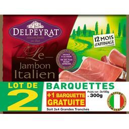 Delpeyrat Le Jambon Italien grandes tranches le barquettes de 4 tranches - 300 g