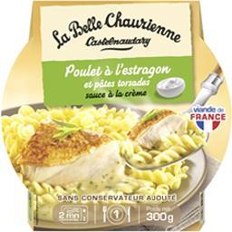La Belle Chaurienne La Belle Chaurienne Poulet à l'estragon et pâtes torsades sauce à la crème la barquette de 300 g