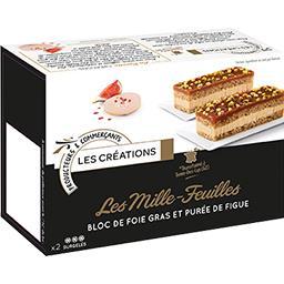 Les Créations Les Mille-feuilles bloc de foie gras et purée de fig... la boite de 2 - 100 g