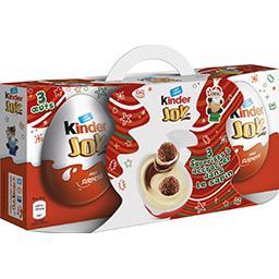Kinder Joy - Crème dessert gaufrettes avec surprise la boite de 3 pièces - 60 g