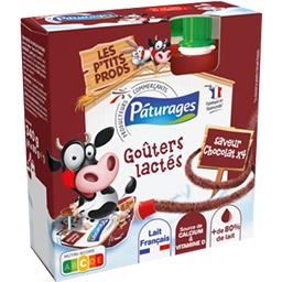 Pâturages Goûters lactés saveur chocolat les 4 gourdes de 85 g