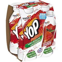 Yop & Go - Yaourt à boire parfum fraise