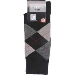 Mi-chaussette intarsia noir homme t43/46
