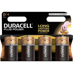 Duracell Plus Power - Piles 1,5V alcaline LR20 D4