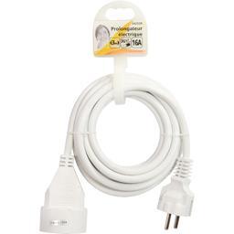 Prolongateur électrique 3G1,5mm 3m 16A, blanc