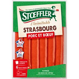 Stoeffler Stoeffler Saucisses La Strasbourg le paquet de 6 - 240 g