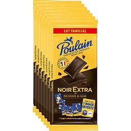 Poulain Poulain Chocolat noir extra - lot familial les 5 tablettes de 100g