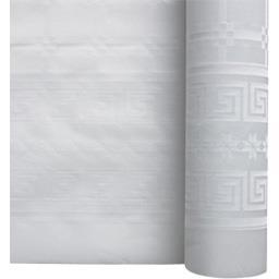 Nappe damassée 1,20 m x 0,50 m blanche