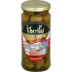 Liberitas Olives vertes farcies saumon le bocal de 140 g net égoutté