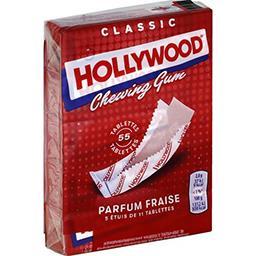 Hollywood Hollywood Chewing-gum Classic parfum fraise les 5 étuis de 31 g