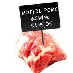 Roti de PORC échine sans os