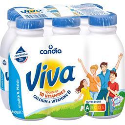 Viva, lait demi-écrémé stérilisé UHT, renforcé en vi...