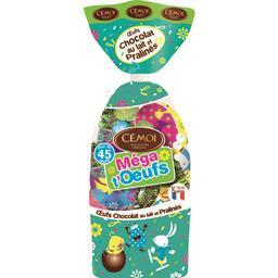 Cémoi Œufs chocolat au lait et pralinés Méga t'Œufs