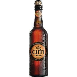 Ch'ti Ch'ti Bière de garde ambrée la bouteille de 75 cl