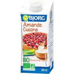 Amande cuisine bio ,BJORG,la brique de 200 ml