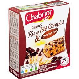 Barres riz et blé complet & chocolat