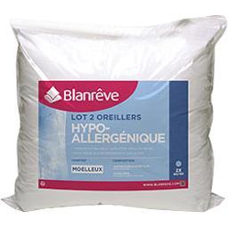 Oreillers hypoallergéniques moelleux 60x60 cm