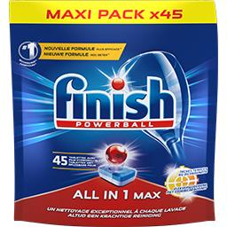 Finish Powerball - Tablettes lave-vaisselle tout en 1 Max b...