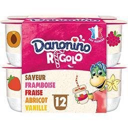 Danone Danone Danonino - Yaourt Rigolo aromatisé les 12 pots de de 125 g