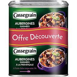 Cassegrain Cassegrain Aubergines cuisinées à la provençale les 2 boite de 375 g - Offre Découverte