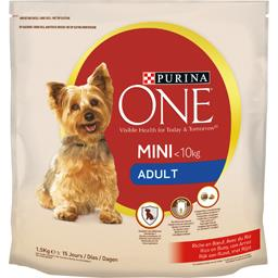 Purina One Purina One Croquettes My Dog is…Adult Mini 1-10 kg bœuf riz pour chiens le sac de 1,5 kg