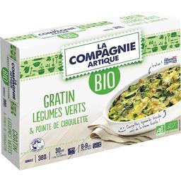Gratin légumes verts & pointe de ciboulette BIO