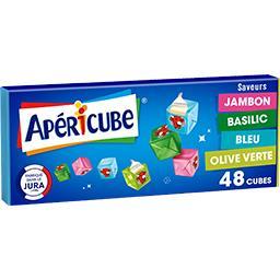 Apéricube Apéricube Les Petits Cubes fromagers Cocktail, 4 saveurs la boite de 48 cubes - 250 g