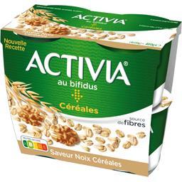 Activia - Spécialité laitière saveur noix céréale