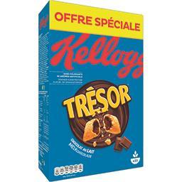 Kellogg's Kellogg's Trésor - Céréales fourrées chocolat au lait la boite de 750 g