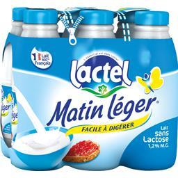 Lactel Lactel Lait sans lactose Matin Léger facile à digérer les 6 bouteilles de 1 l