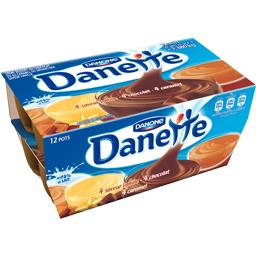 Danette - Crèmes dessert chocolat, caramel et saveur...