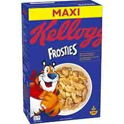 Kellogg's Kellogg's Frosties - Céréales pétales de maïs glacés au sucre la boite de 620 g