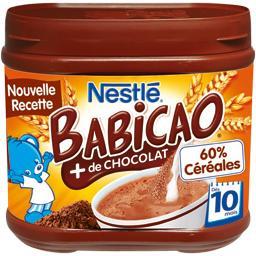 Céréales Babicao chocolat, 10+ mois