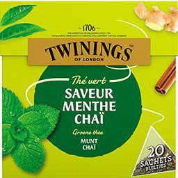 Twinings Twinings Thé vert menthe chaï la boite de 20 - 32 g
