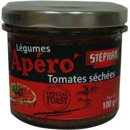 Stéphan Apéro - Légumes tomates séchées spécial toast la boite de 100 g
