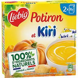 Liebig Liebig Doux Plaisir - Soupe potiron et Kiri les 2 briques de 30 cl