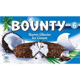 Bounty Bounty Barres glacées noix de coco chocolat au lait les 6 barres de 50,1 ml