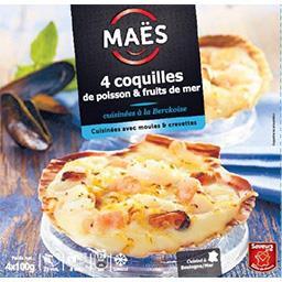 Jacques Maës Coquilles de poisson & fruits de mer cuisinées à la ... la boite de 4 - 400 g