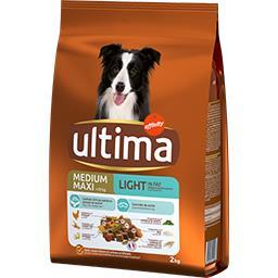 Ultima Ultima Repas Equilibre - Croquettes Light poulet agneau pour chiens le sac de 2 kg