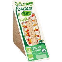 Daunat BIO - Sandwich Le Club féta AOP & légumes le sandwich de 140 g