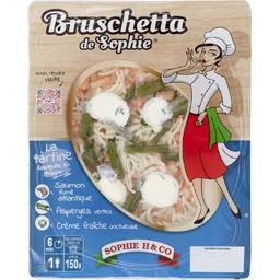 Bruschetta saumon asperges