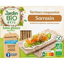 Jardin Bio Jardin Bio'logique Tartines craquantes sarrasin BIO les 2 sachets de 75 g