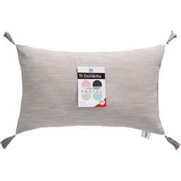 Collection Pastel - Coussin déco 30x50 cm gris clair