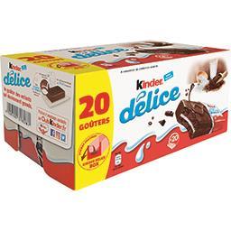 Kinder Kinder Délice - Gâteau enrobé au cacao les 20 gâteaux de 39 g