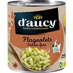 D'aucy D'aucy Flageolets extra fins la boite de 530 g net égoutté