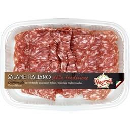 Chiffonnade de saucisson italien Salame Italiano